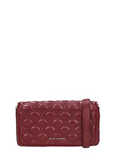 Marc Jacobs-Pochette Wallet On Chain in pelle matelass� bordeaux