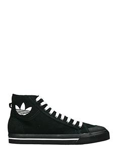 Adidas By Raf Simons-Sneakers Matrix Spirt Hi in camoscio e pelle nera