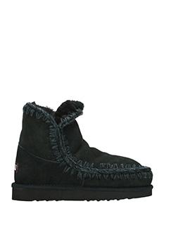Mou-Eskimo 18 black suede boots