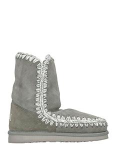 Mou-Eskimo 24 grey suede boots