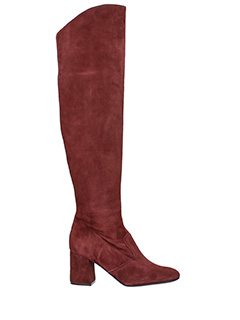 Gianna Meliani-bordeaux suede boots