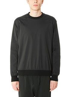 Golden Goose Deluxe Brand-Felpa Shirt Roundneck in cotone e nylon nero