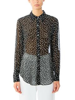 Theory-Sunaya  black silk shirt
