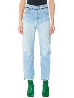 Vetements-Jeans Biker in denim azzurro