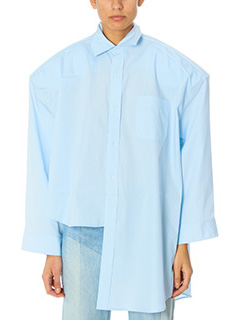 Vetements-Camicia Classic Shirt in cotone celeste