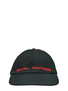 Vetements-Cappello Sexual Fantasies in cotone nero