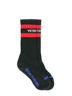 Vetements-black cotton socks