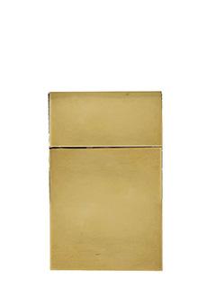 Vetements-Cigarette Box in ottone galvanizzato oro
