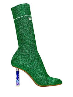 Vetements-Tronchetti Ankle Socks in lam� verde