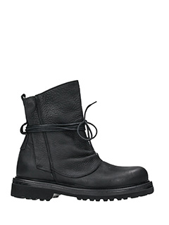 Marcel Martillo-Lenny black leather combat boots