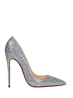 Christian Louboutin-Decolletè So Kate 120  glitter argento