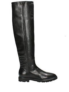 Julie Dee-Stivali cavallerizza in pelle nera