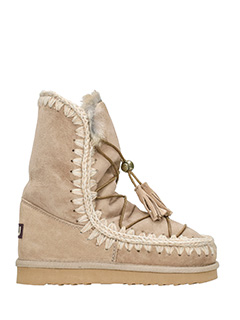 Mou-Stivali Eskidream Lace  in shearling beige