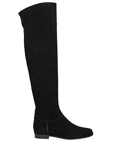 Julie Dee-black suede boots