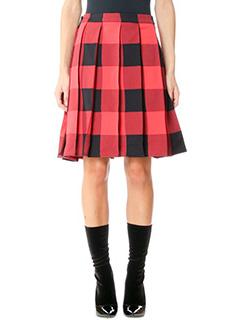 Balenciaga-red polyamide skirt