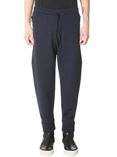 Balenciaga-Pantaloni in cotone blue