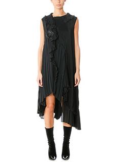 Balenciaga-black polyester dress