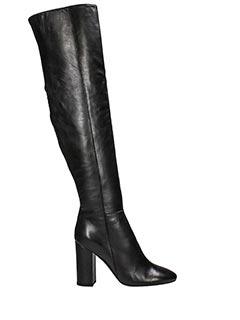 Fabio Rusconi-black leather boots