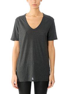 T by Alexander Wang-T-Shirt Slub Classic Tee in cotone grigio