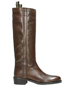 Fabio Rusconi-brown leather boots