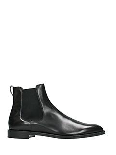 Givenchy-Tronchetti Rider Chelsea in pelle nera
