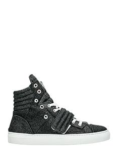 Gienchi-Sneakers Hypnos in tessuto glitter nero