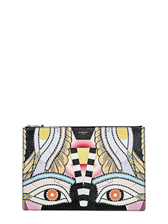 Givenchy-Pouc L multicolor leather clutch