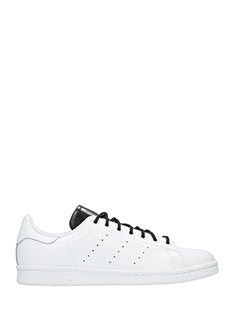 Adidas-Sneakers Stan Smith  in pelle bianca nera