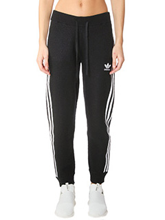Adidas-Knit tp cuffed  black cotton pants