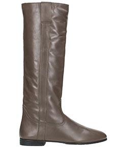 Fabio Rusconi-beige leather boots