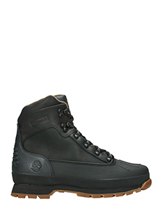Timberland-Anfibi Euro Hiker Shell Toe in pelle nera