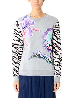Kenzo-grey cotton sweatshirt