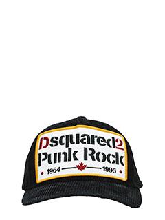 Dsquared 2-Cappello Punk Rock in cotone nero