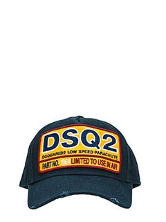 Dsquared 2-Cappello Limited To Use in cotone nero
