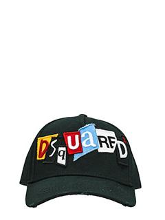 Dsquared 2-Cappello Logo in cotone rosso