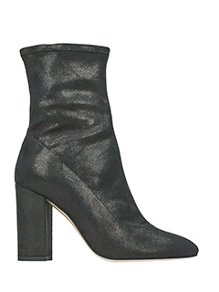 Fabio Rusconi-Tronchetti in pelle elasticizzata glitter nera-tacco 10 cm
