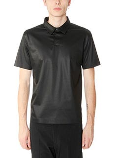Jil Sander-Polo in Jersey nero