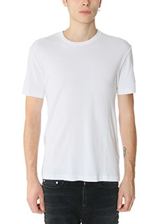 James Perse-T-Shirt Basic in cotone bianco