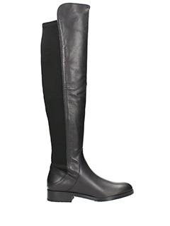 Carmens-Dream black nylon and leather boots