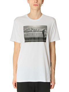 Adidas-T-Shirt Photo Tee in cotone bianco
