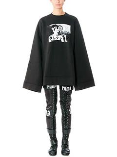 Puma-Fleece full zip black cotton sweatshirt