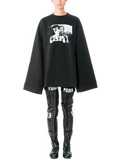 Puma-Felpa Fleece in cotone nero