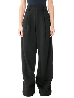 Puma-Pantaloni Oversized Fleec in cotone nero