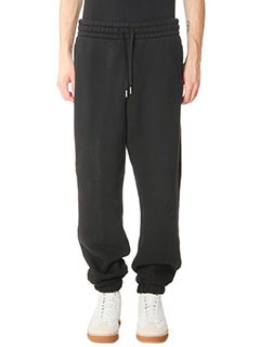 Alexander Wang-Pantaloni Fleece Sweatpants  in cotone nero