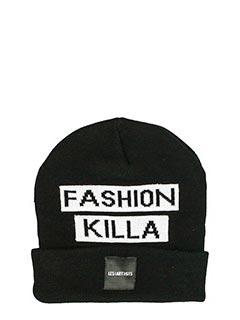 Les Artist-Cappello Patch  Fashion Killa in lana nera