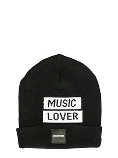 Les Artist-Cappello Patch Music Lover in lana nera