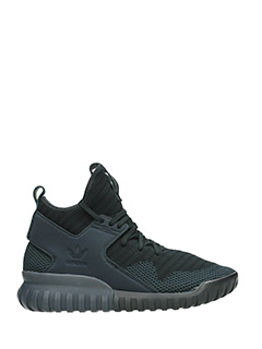 Adidas-Sneakers Tubular  X in pelle e nylon nero