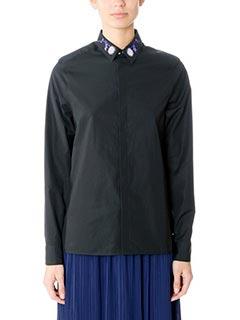 Kenzo-Camicia Damdelion Print in cotone nero