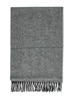 Lanvin-Sciarpa in lana grigia nera