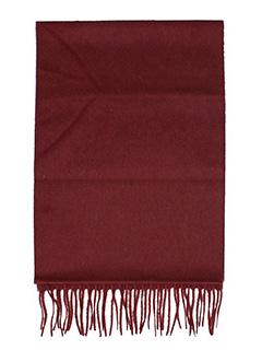 Lanvin-Sciarpa Logo in lana bordeaux